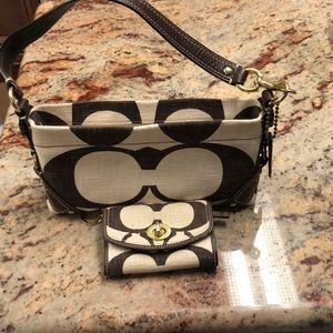 Coach handbag and mini wallet